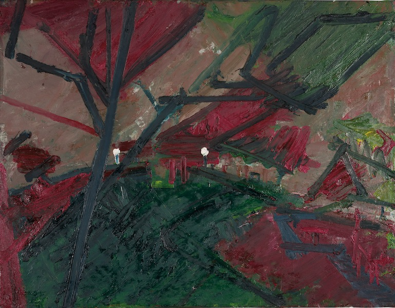 Auerbach, Winter Evening, Primrose Hill Study, 1974-5