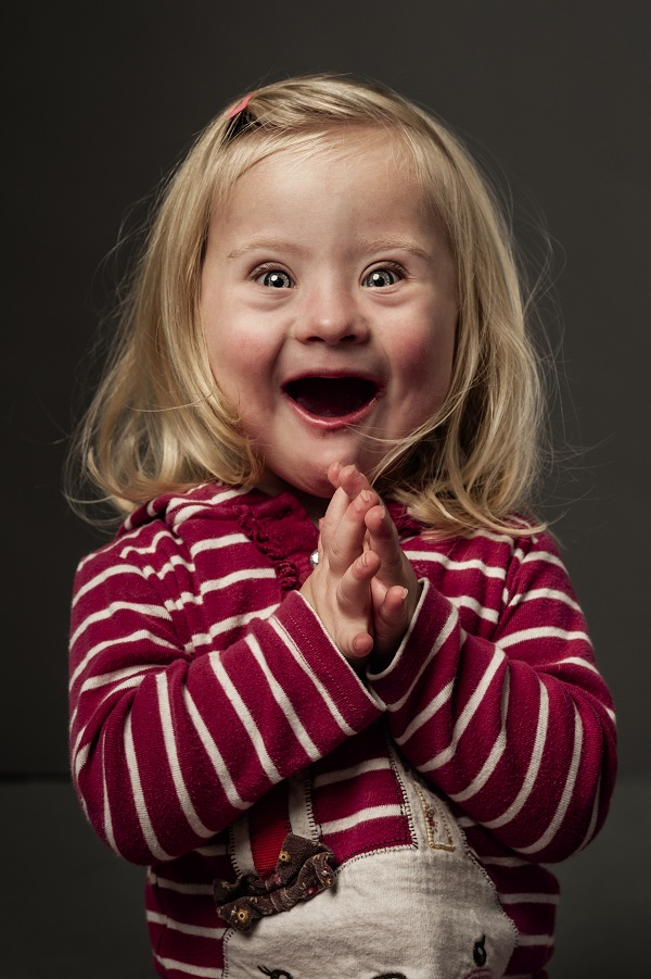 Beth Costerton photographed for 'This Is Me' an exhibition of 50 portraits of children who have Down's Syndrome © Andrew Shaylor