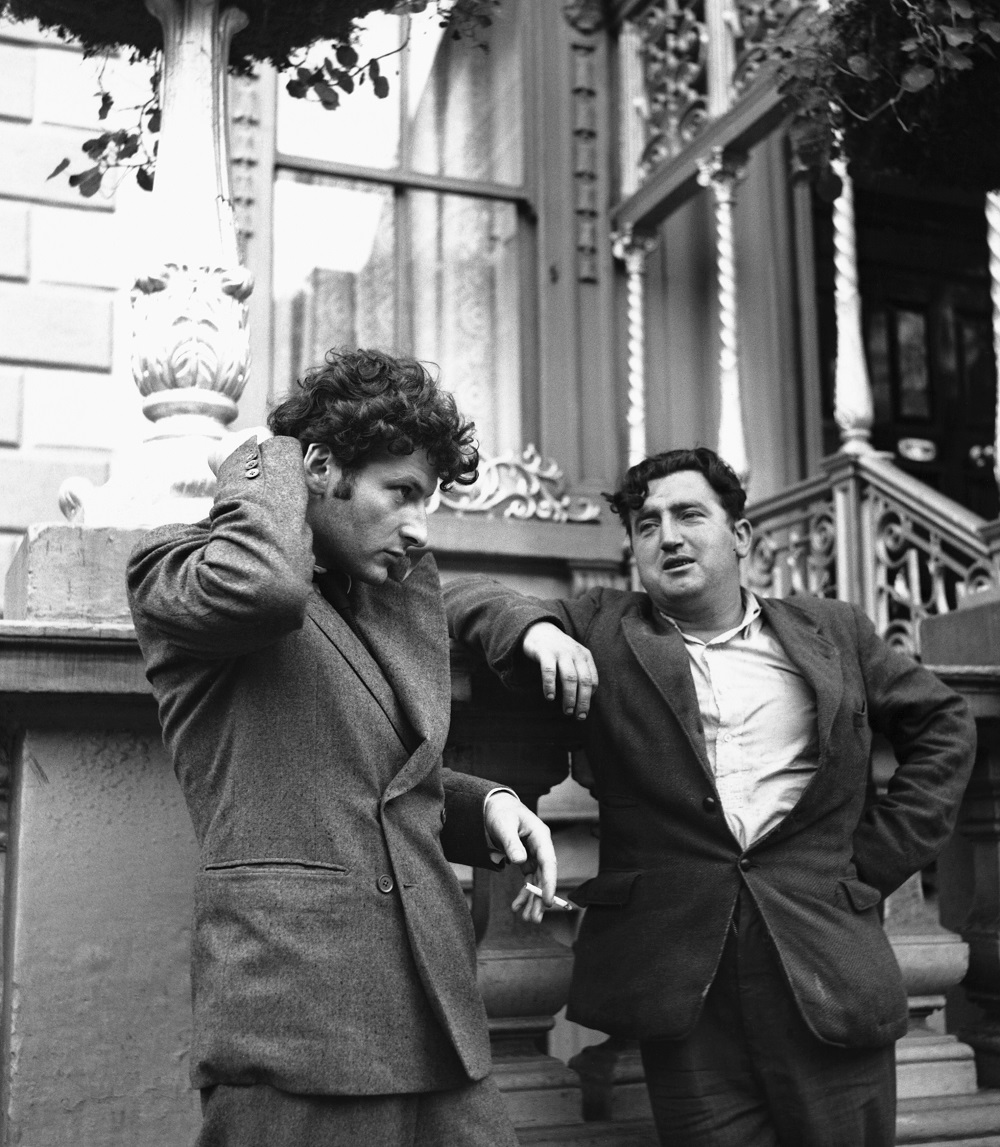 Lucian Freud and Brendan Behan in Dublin, 1953 (c) Getty