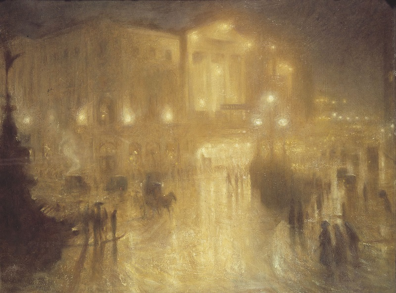 Arthur Hacker, A Wet Night at Piccadily Circus, 1910, Royal Academy of Arts