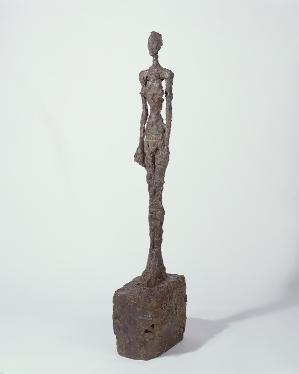Alberto Giacometti,  Standing Woman ,  1958 - 1959 , Bronze,  Sainsbury Centre for Visual  Arts ,  © The Estate of Alberto Giacometti  (Fondation Giacometti, Paris and ADAGP,  Paris), licensed in the UK by ACS and DACS,  London 201 6.  Photo: Pete Huggin