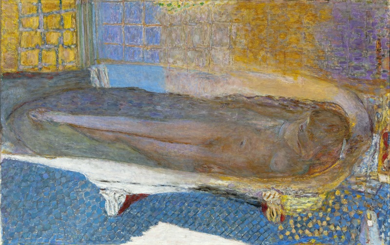 Pierre Bonnard, Nude in the Bath (Nu dans le bain), 1936 - 8, Oil paint on canvas  930 x 1470 mm  Musée d'Art moderne de la Ville de Paris  /   Roger  -  Viollet