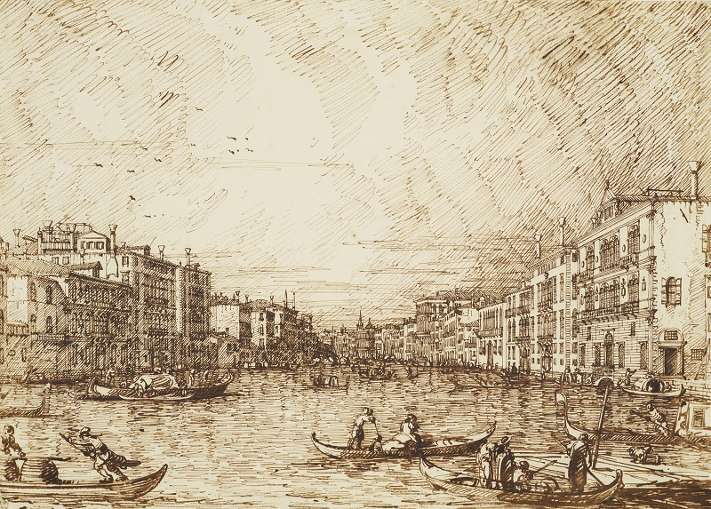 Canaletto, Venice: The Central Stretch of the Grand Canal, c.1734 Royal Collection Trust/(c)Her Majesty Queen Elizabeth II 2016