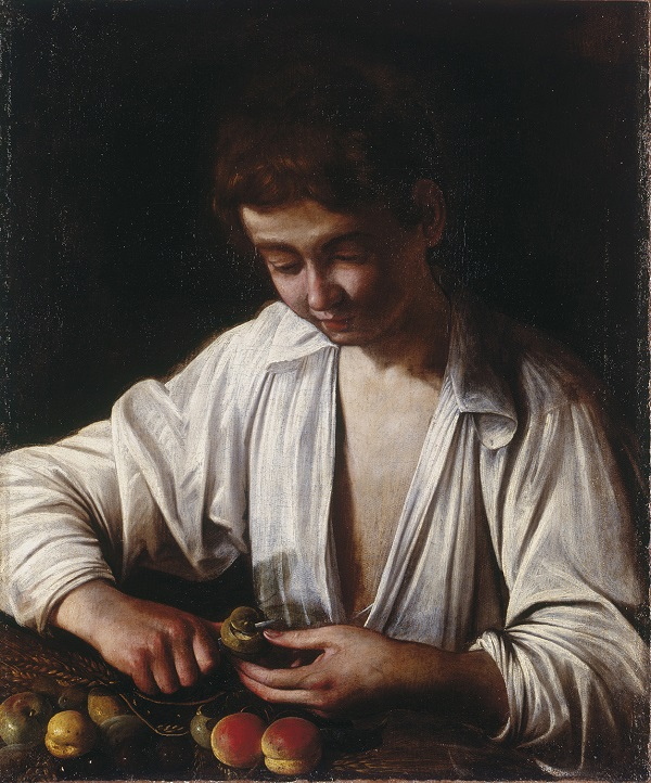 Michelangelo Merisi da Caravaggio, Boy Peeling Fruit, about 1592-3, Royal Collection Trust / © Her Majesty Queen Elizabeth II