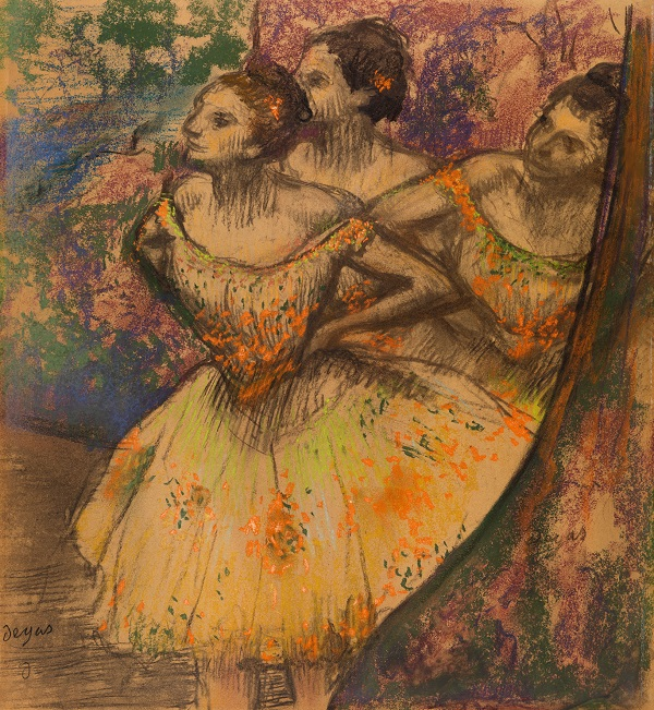Hilaire-Germain-Edgar Degas, Three Dancers, about 1900-5 Pastel on tracing paper, The Burrell Collection