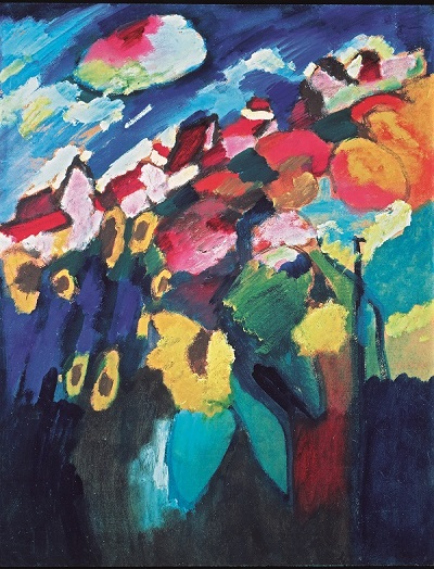 Wassily Kandinsky, Murnau The Garden II, 1910, Oil on cardboard, Merzbacher Kunststiftung Photo © Merzbacher Kunststiftung