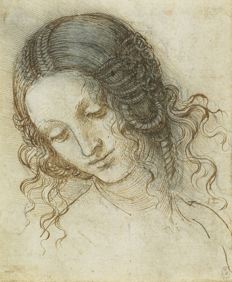 Leonardo da Vinci, The head of Leda, c.1505-8  Credit: Royal Collection Trust/(c) Her Majesty Queen Elizabeth II 2019