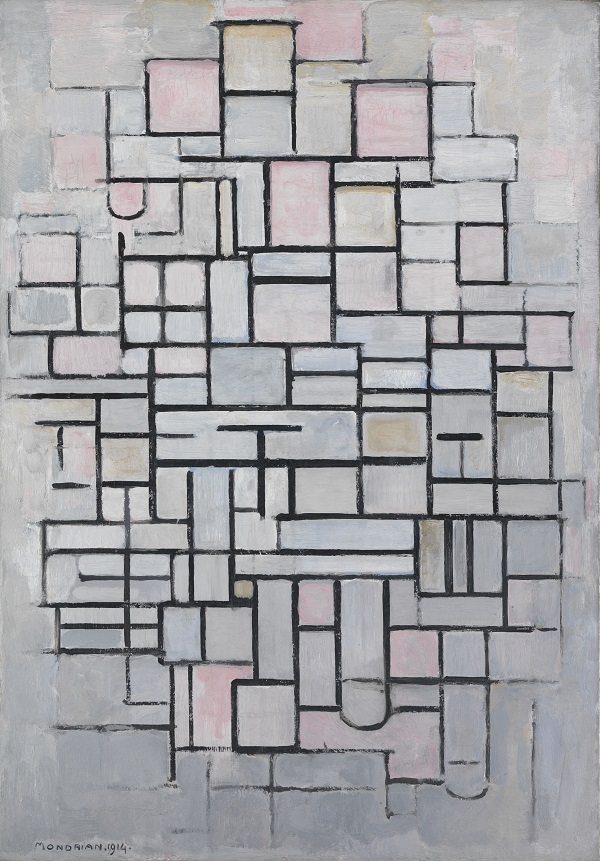Composition No.IV, 1914, Oil on canvas, Gemeentemuseum Den Haag