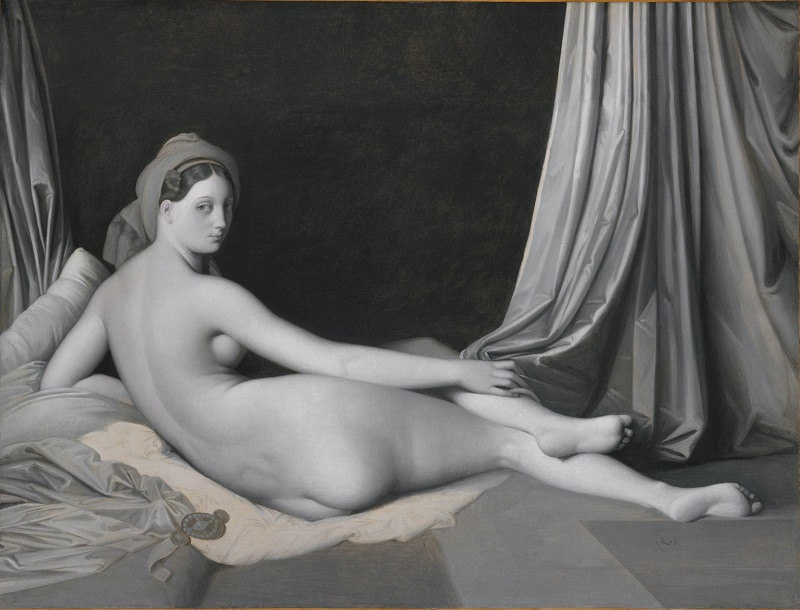 Jean-Auguste-Dominique Ingres and workshop, Odalisque in Grisaille, about 1824-34, © The Metropolitan Museum of Art / Art Resource / Scala, Florence