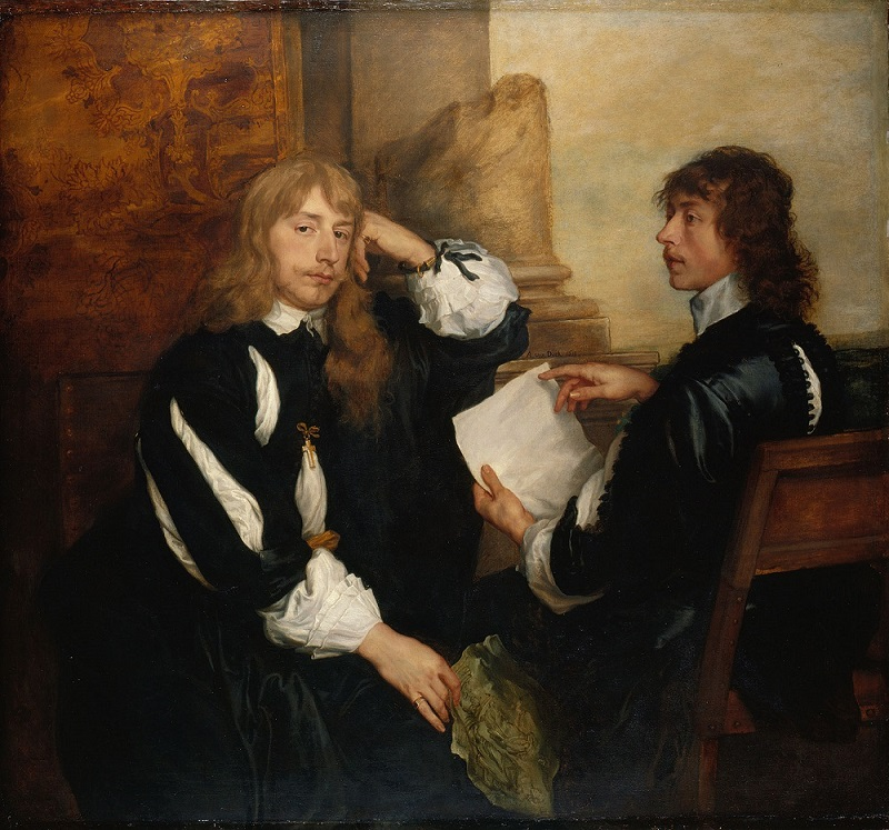 Anthony Van Dyck, Thomas Killigrew and William, Lord Crofts (?), 1638, The Royal Collection Trust /HM QUEEN ELIZABETH II