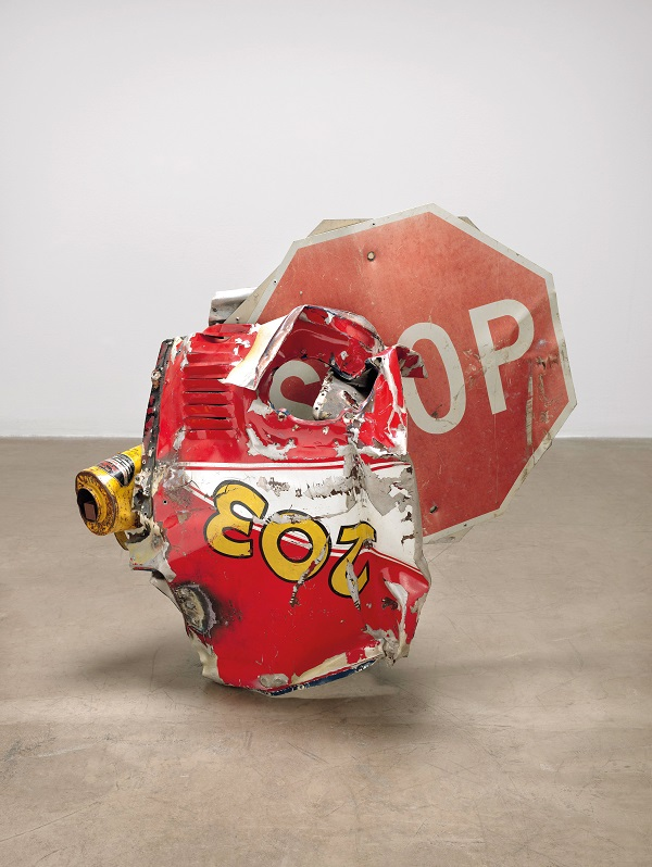 Robert Rauschenberg, 'Stop Side Early Winter Glut', 1987, Riveted metal road signs, car parts, and gas station signs, The Museum of Modern Art, New York. Gift of Robert Rauschenberg Foundation and Marie-Josee and Henry R.Kravis © Robert Rauschenberg Foundation, New York  Photo: © 2016. The Museum of Modern Art, New York/Scala, Florence
