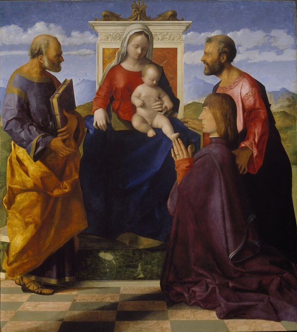Giovanni Bellini, Virgin and Child with Saint Peter, Saint Mark and a Donor, oil on panel, Birmingham Museum and Art Gallery Photo © Birmingham Museums