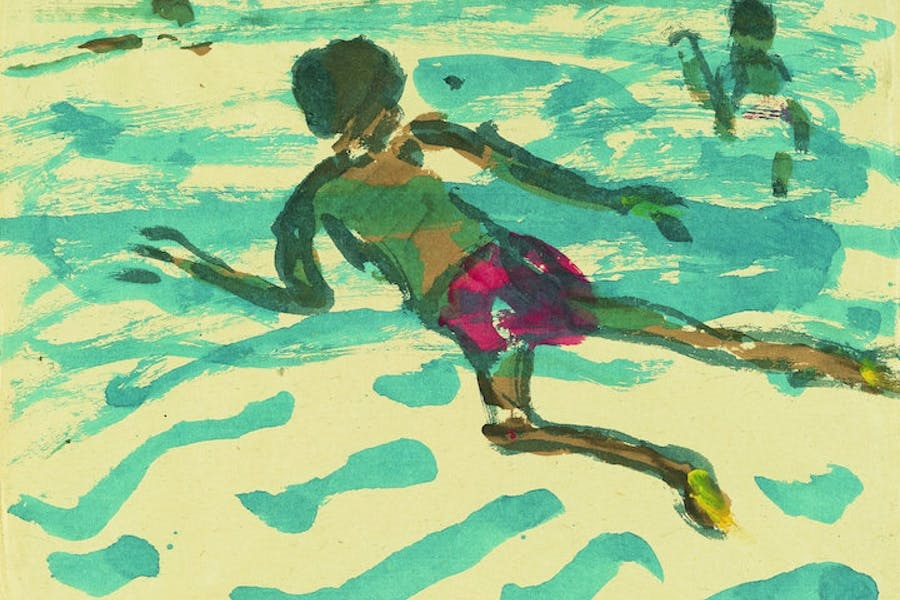 Aboriginal Man Swimming, 1914