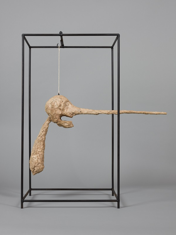 The Nose,  c.1947-1949, Plaster, Collection Fondation Alberto et Annette Giacometti, Paris