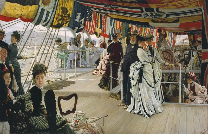 James Tissot (1836-1902), The Ball on Shipboard, c.1874, Tate. Presented by the Trustees of the Chantrey Bequest, 1937