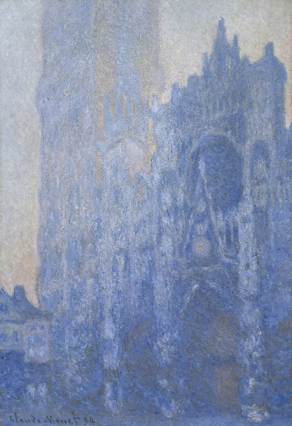 Claude Monet Rouen Cathedral. The Portal and the Tour d'Albane at Dawn (Cathédrale de Rouen. Le Portail et la tour d'Albane à l'aube), 1893-4 Oil on canvas 106 × 74 cm © Museum of Fine Arts, Boston Tompkins Collection - Arthur Gordon Tompkins Fund 24.6