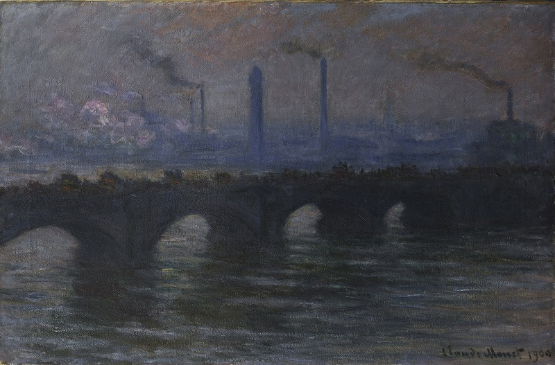 Claude Monet Waterloo Bridge, Overcast Weather (Waterloo Bridge, temps couvert), 1899-1903 Oil on canvas 65 × 100 cm © Dublin City Gallery The Hugh Lane