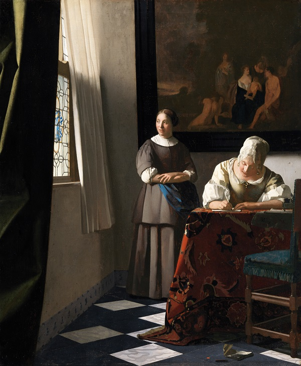 Johannes Vermeer (1632-1675) 'Woman Writing a Letter with Her Maid', c.1670-71, Oil on canvas, National Gallery of Ireland, Dublin, Photo © National Gallery of Ireland