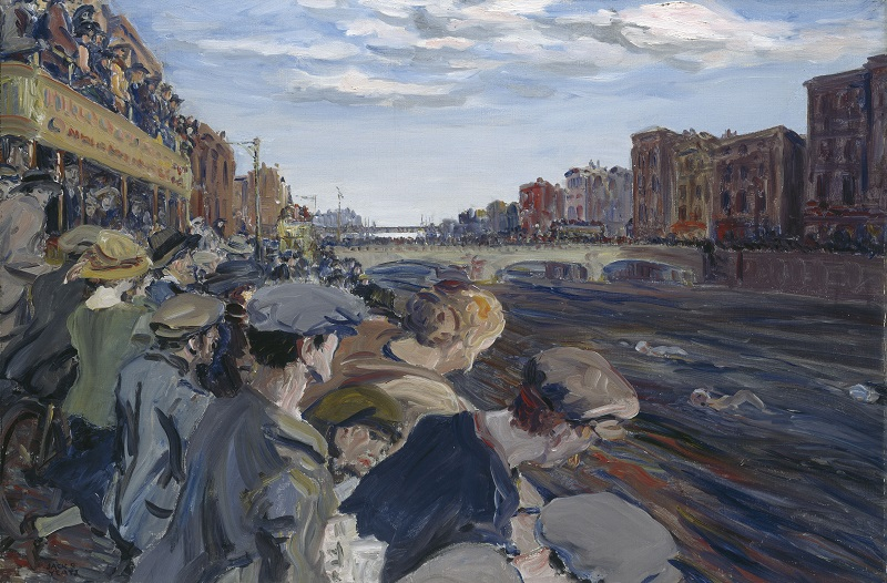 Jack B. Yeats (1871 – 1957), The Liffey Swim, 1923, Oil on canvas © NGI