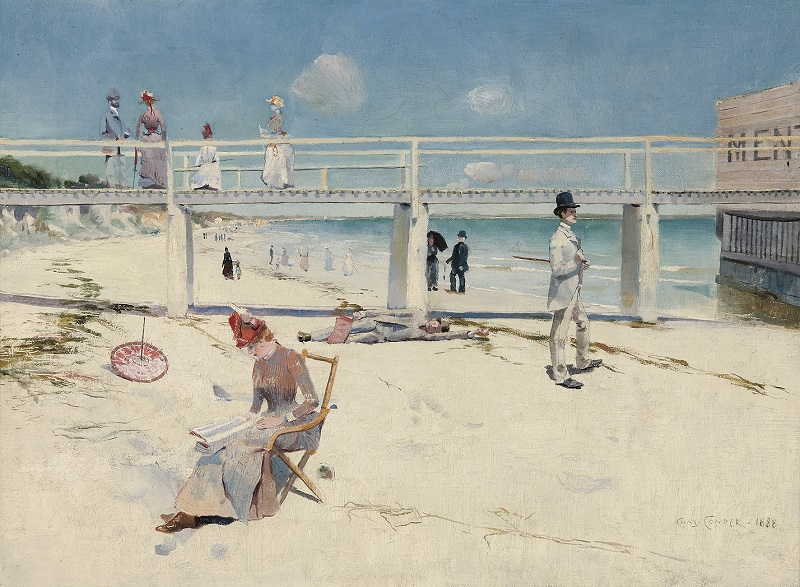 A Holiday at Mentone Charles Conder 1888	Art Gallery of South Australia, Adelaide South Australian Government Grant with the assistance of Bond Corporation Holdings Limited through the Art Gallery of South Australia Foundation to mark the Gallery's Centenary 1981