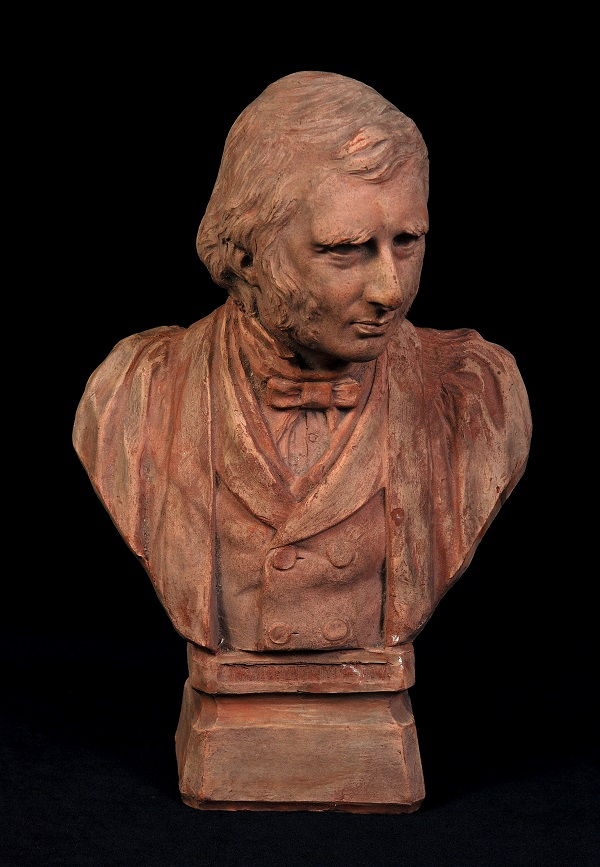 Benjamin Creswick  Portrait Bust of Ruskin  1887  Terracotta  © Collection of the Guild of St George / Museums Sheffield