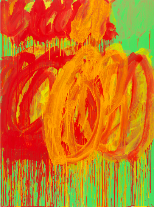 CY TWOMBLY Untitled (Camino Real), 2011 Acrylic on plywood 99 3/8 x 72 7/8 inches 252.4 x 185.1 cm © Cy Twombly Foundation