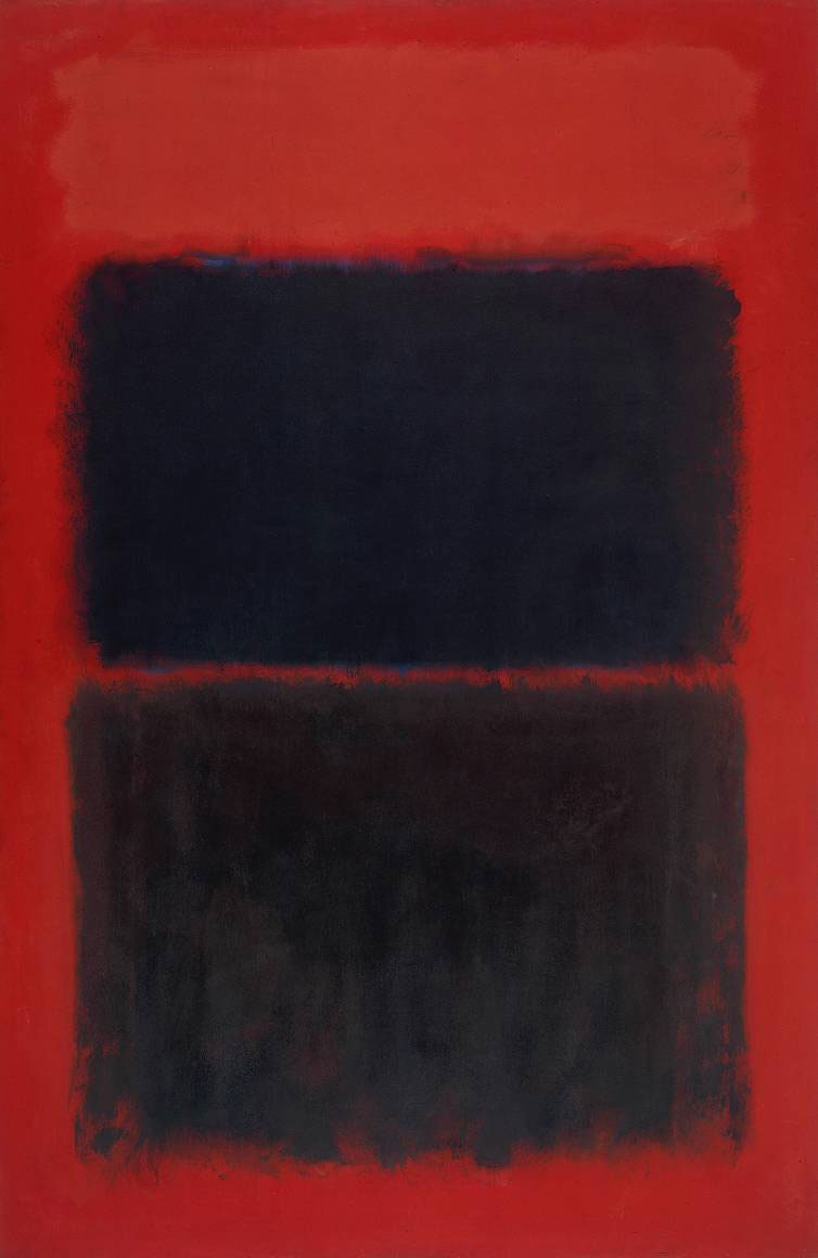 Rothko Light Red over Black