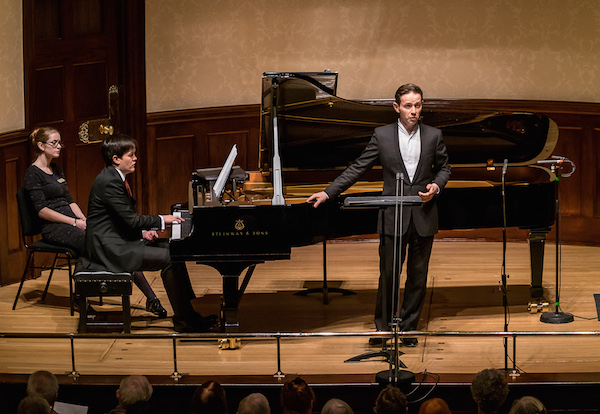 Iestyn Davies and James Baillieu at Wigmore Hall