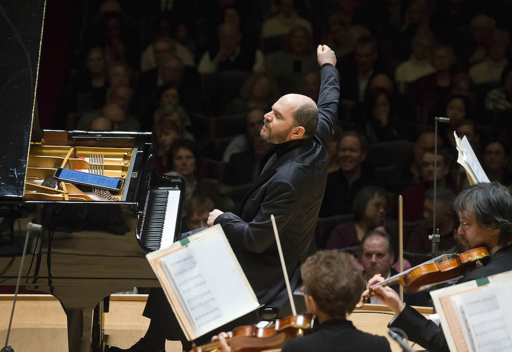 Pianist Kirill Gerstein performing Adès's Piano Concerto
