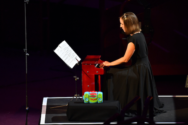 Pianist Clíodna Shanahan plays the toy piano
