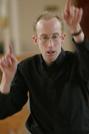 Elysian Singers conductor Sam Laughton