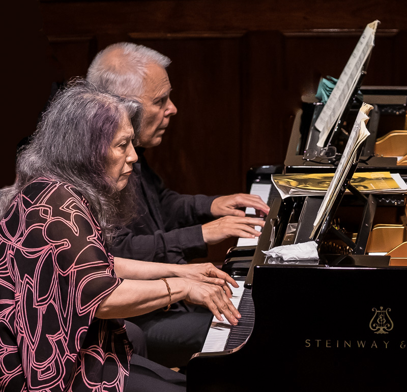 Argerich and Kovacevich at the Wigmore by Clive Barda