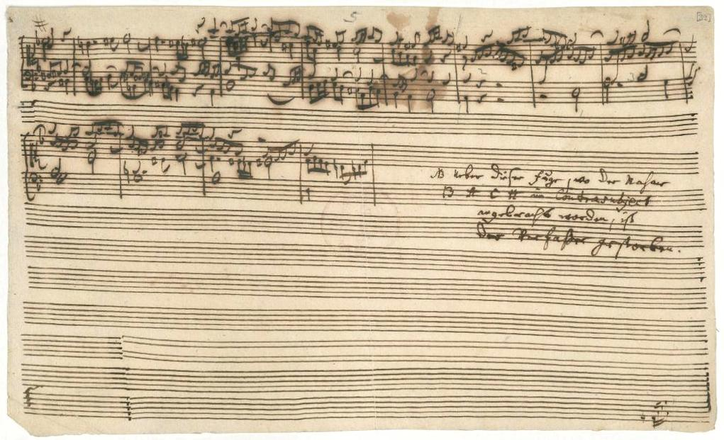 Last page of The Art of Fugue