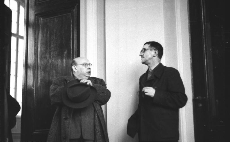 Eisler and Brecht in 1950