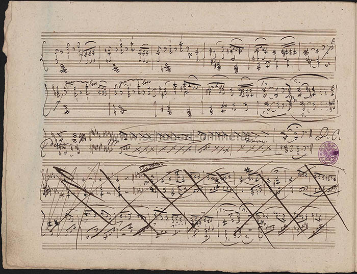 Manuscript page of Schubert