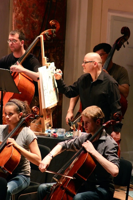 James Mayhew paints Britten's Young Person's Guide to the Orchestra