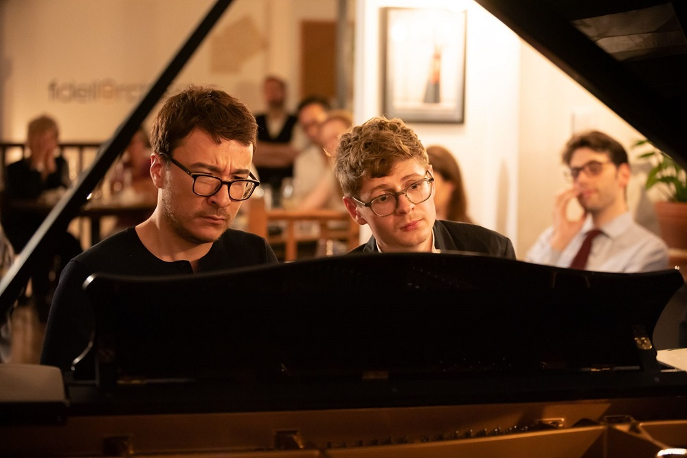 Kolesnikov and Tsoy at the Fidelio Orchestra Cafe