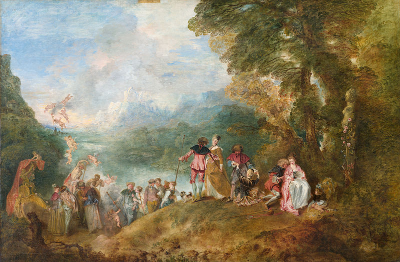 Watteau's L'embarquement pour Cythere