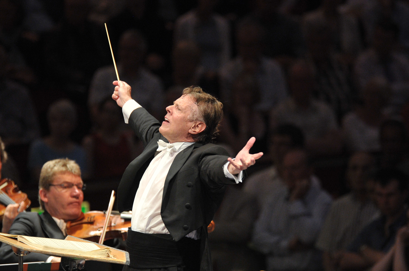 Mariss Jansons at the Proms pictured by Chris Christodoulou