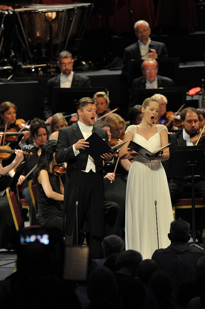 David Danholt and Anna Lucia Richter at the Proms