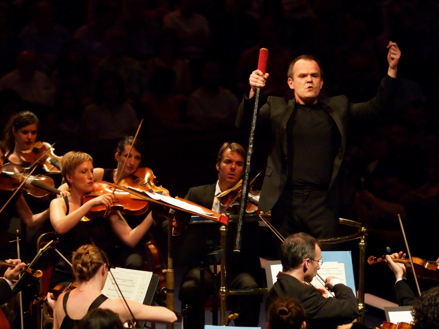 Francis Roth and  Les Siecles at the BBC Proms by Sisi Burn
