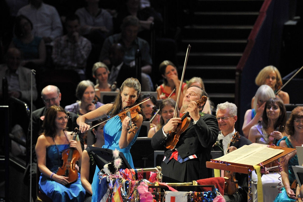 Oramo and Jansen at the Last Night of the Proms