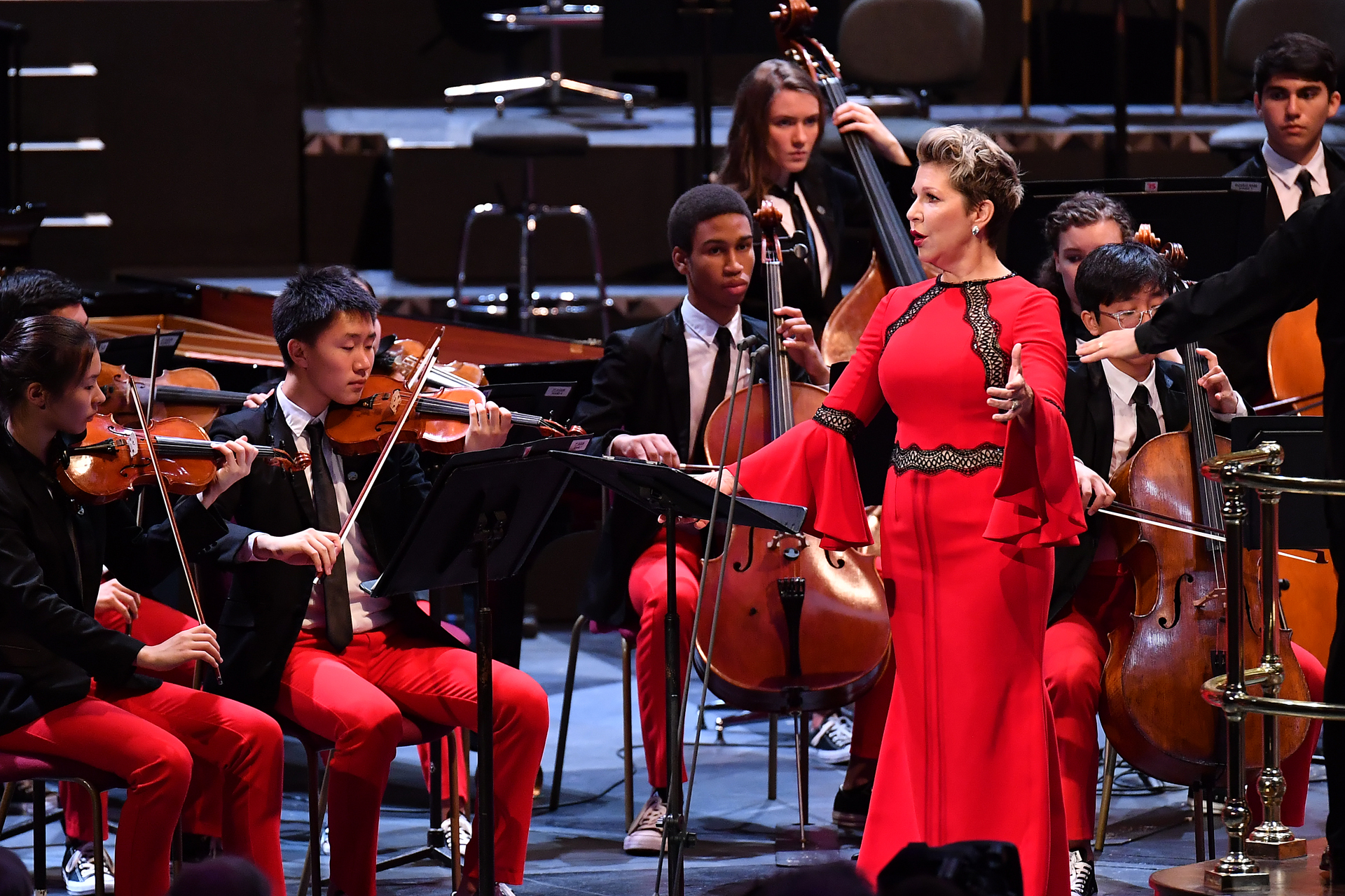 Joyce DiDonato and NYO-US players at the Proms