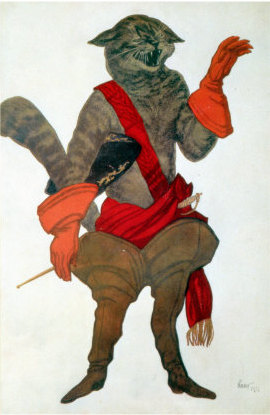 Bakst's design for Puss in Boots in The Sleeping Beauty