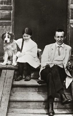 Rachmaninov, daughter and dog, 1910
