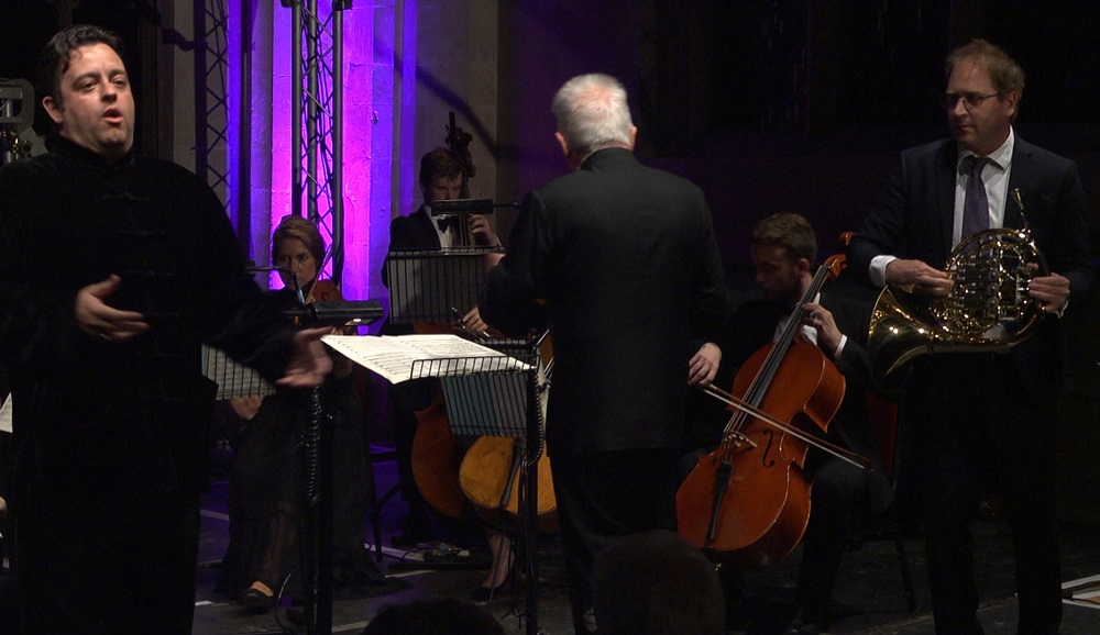 Ben Johnson, Martin Owen and David Parry conducting the Southrepps Sinfonia