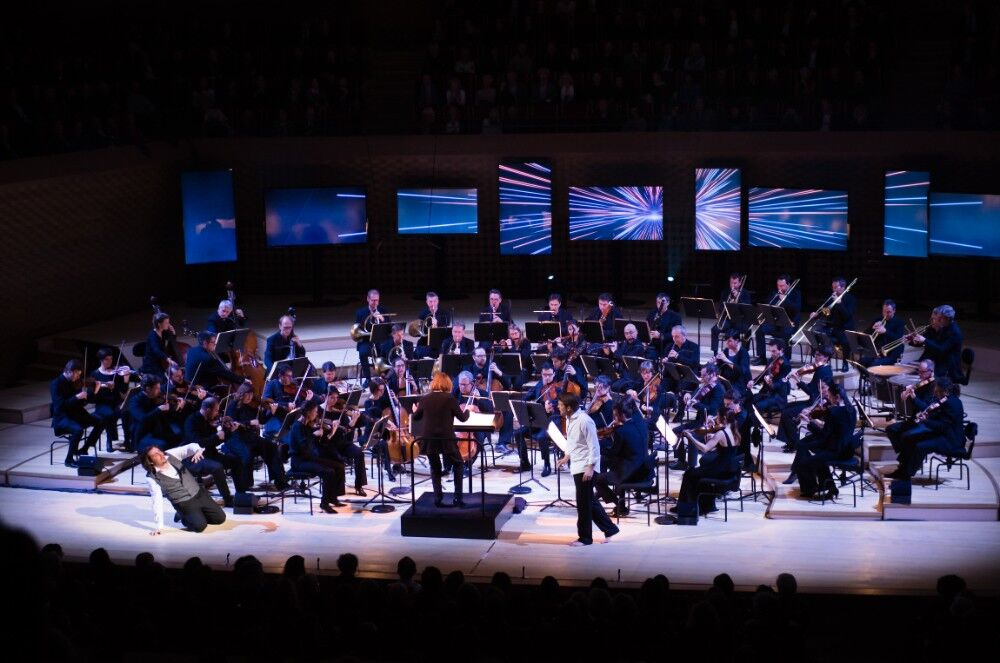 Scene from opening concert of La Seine Musicale