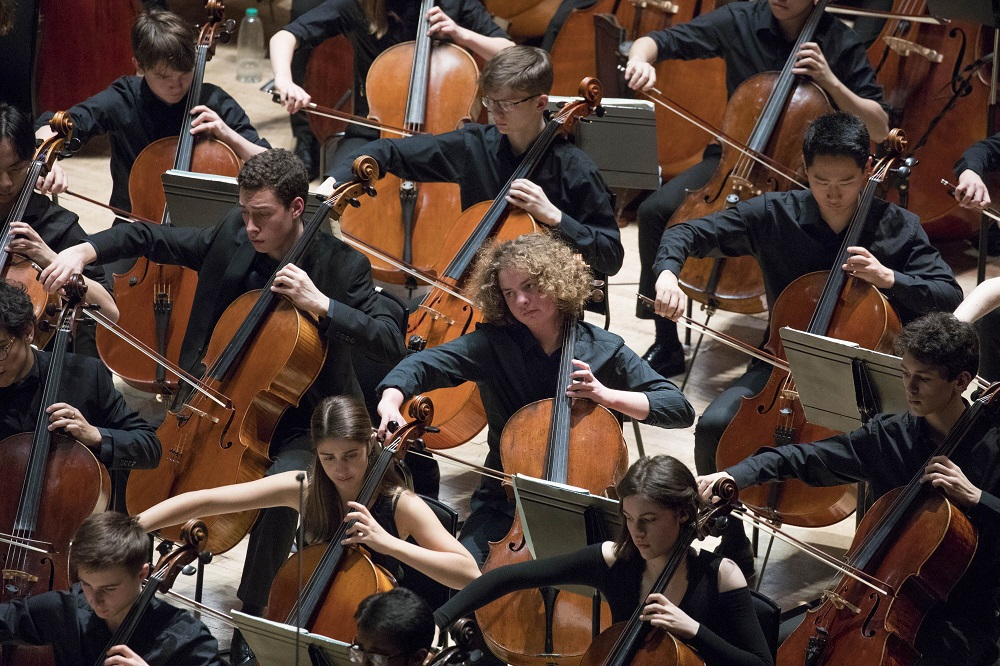 Cellists of the National Youth Orchestra