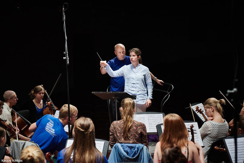 Paavo Jarvi in conducting masterclass