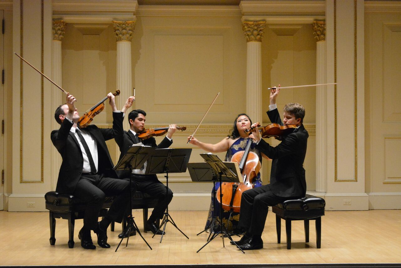 Calidore String Quartet in concert
